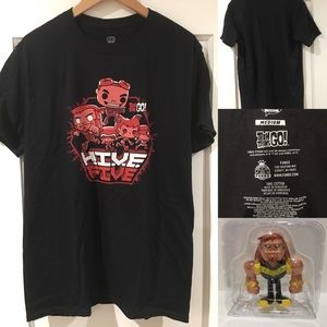Funko Pop Hive Five (Teen Titans) T Shirt & Figure